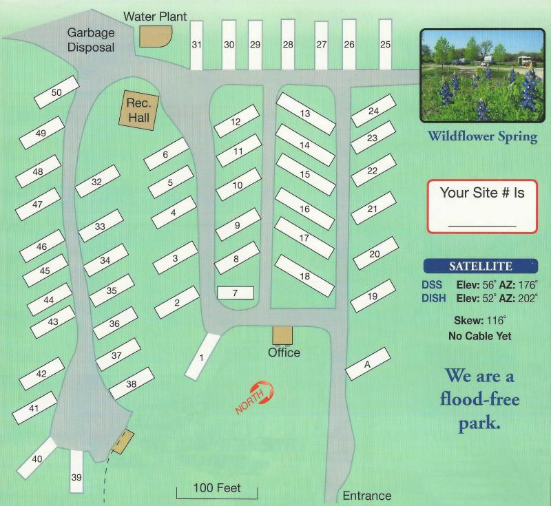 Pomarosa RV Park's Layout